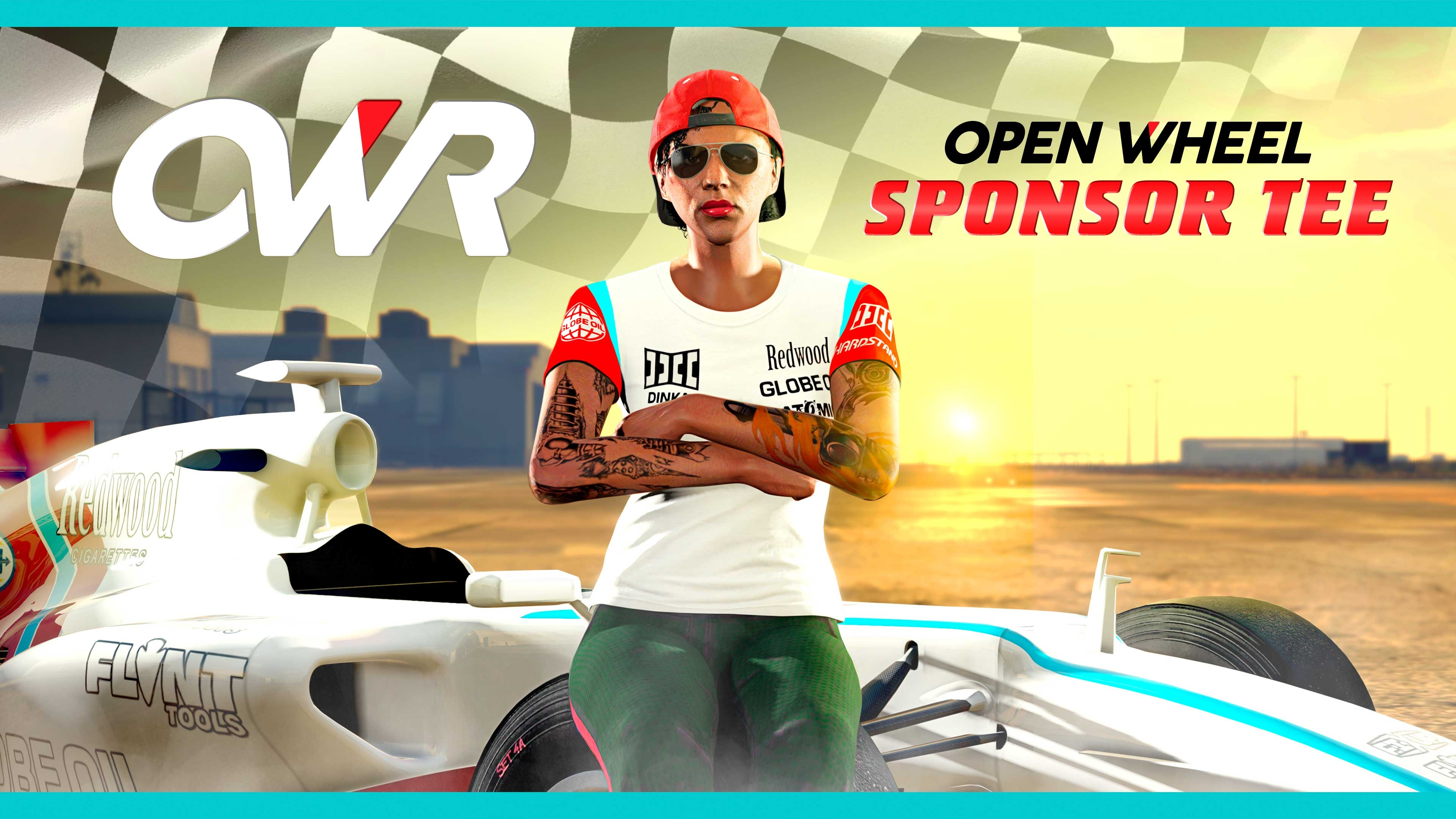 Free Open Wheel Sponsor Shirt for All Open Wheel Racers